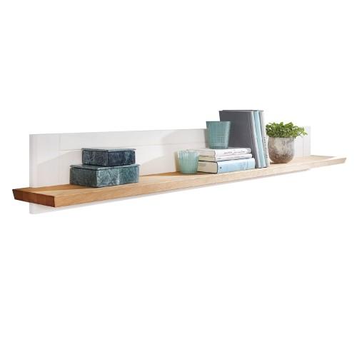 Drewniana Biała Półka Na ścianę Marone